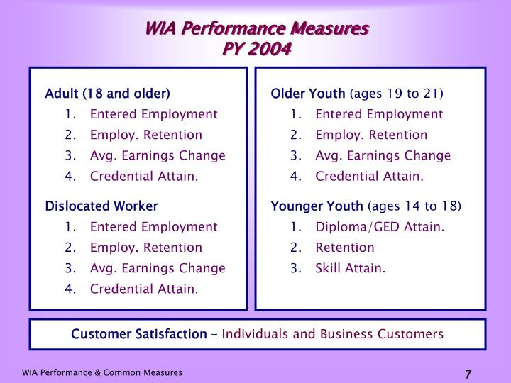 WIA Performance Measures