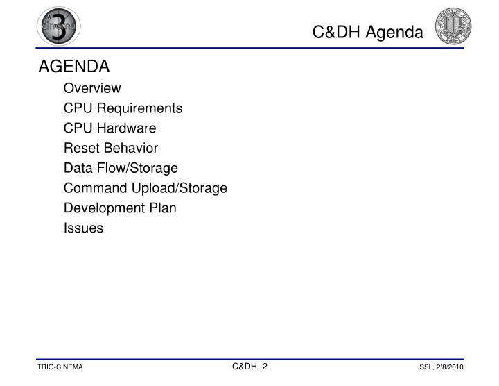C&DH Agenda