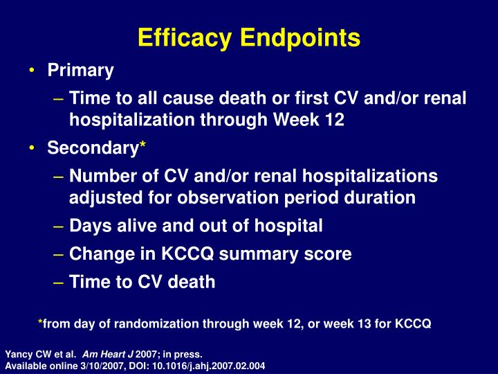 Efficacy Endpoints