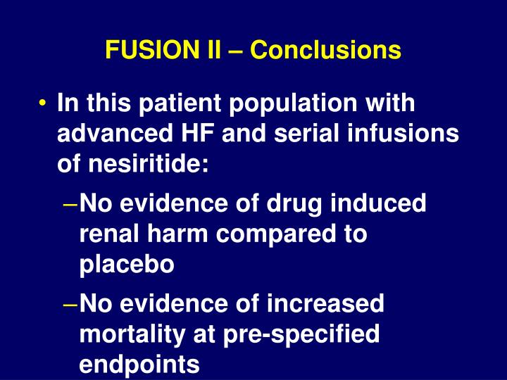 FUSION II – Conclusions