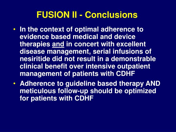FUSION II - Conclusions