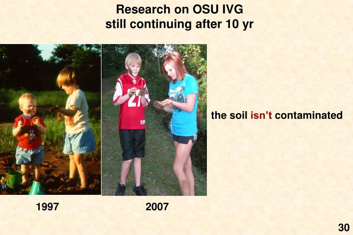 Research on OSU IVG