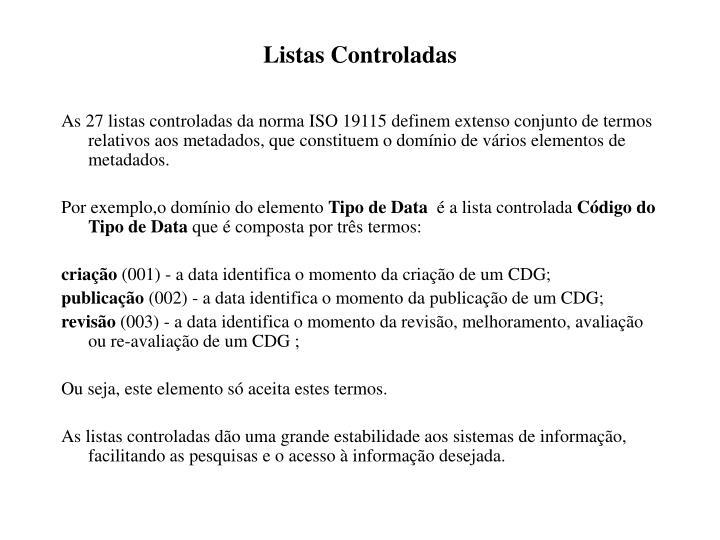 Listas Controladas