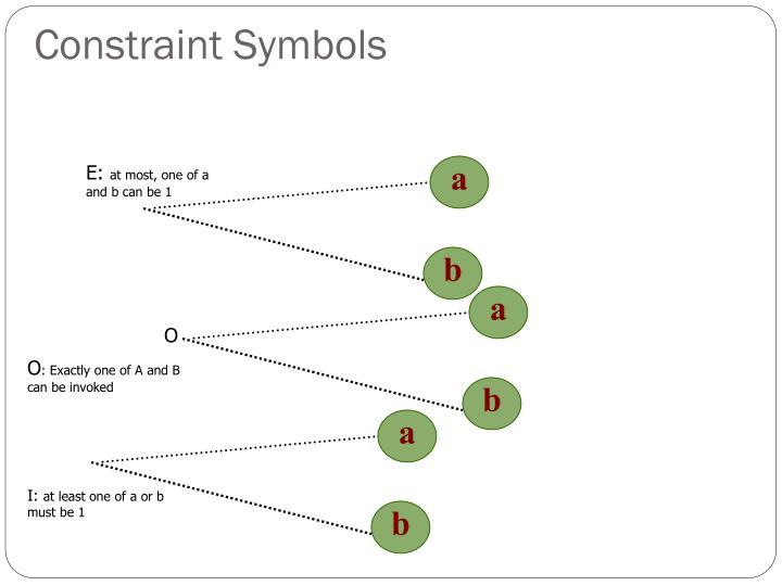 Constraint Symbols