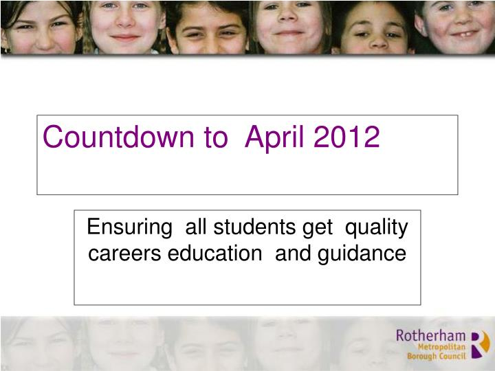 Countdown to  April 2012