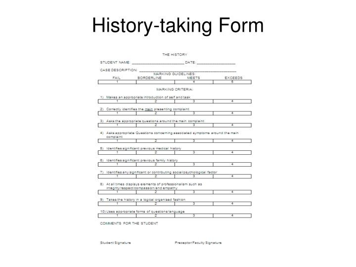 History-taking Form