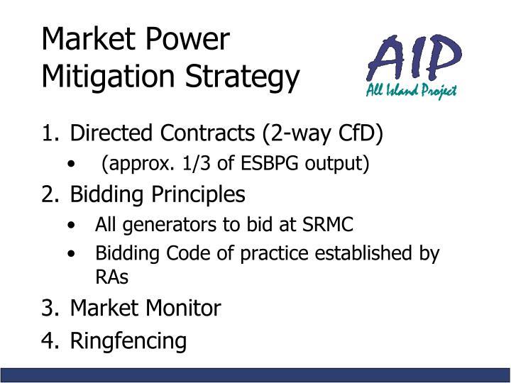 Market Power Mitigation Strategy