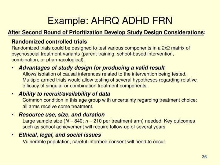 Example: AHRQ ADHD FRN