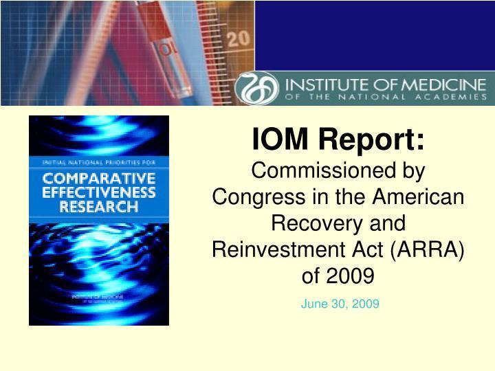 IOM Report: