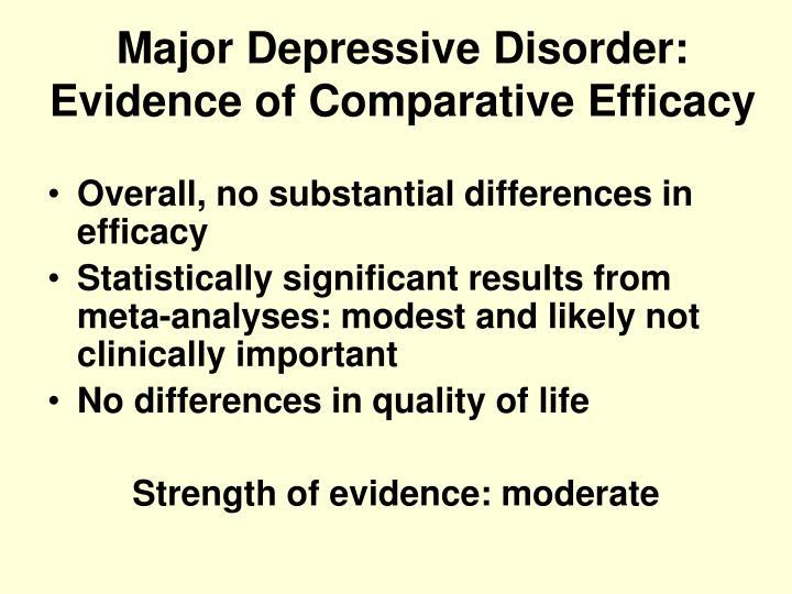 Major Depressive Disorder: