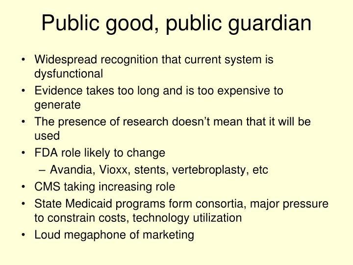 Public good, public guardian