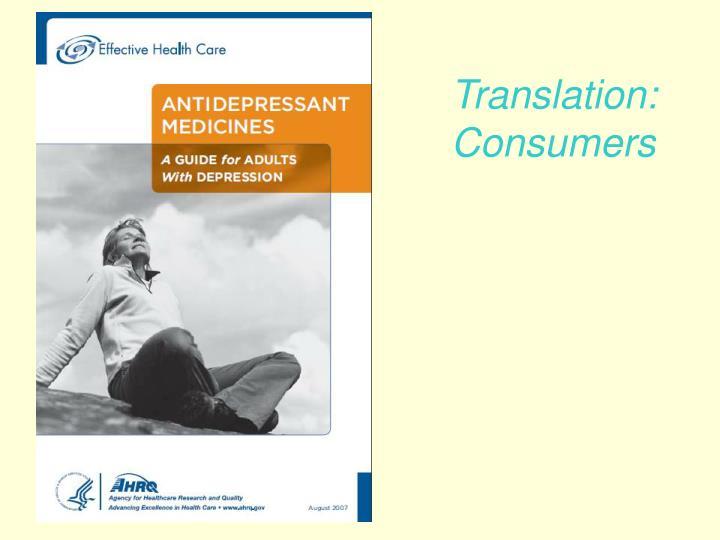 Translation: Consumers