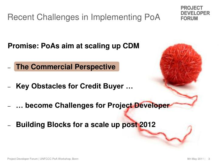 Promise: PoAs aim at scaling up CDM