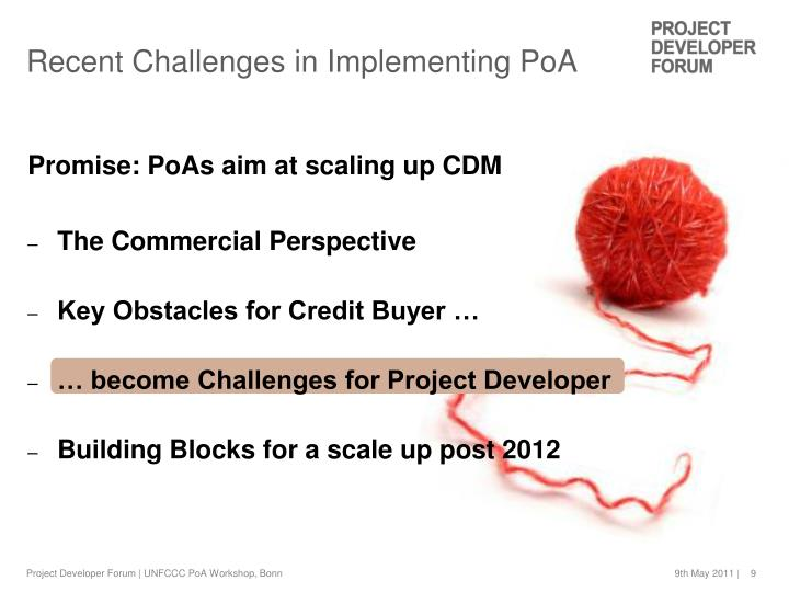 Recent Challenges in Implementing PoA