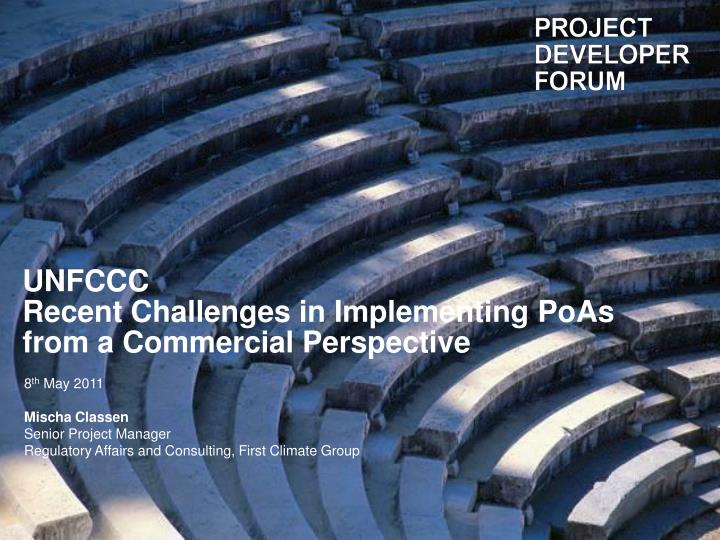 Unfccc recent challenges in implementing poas from a commercial perspective