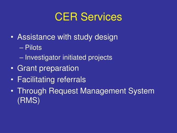 CER Services