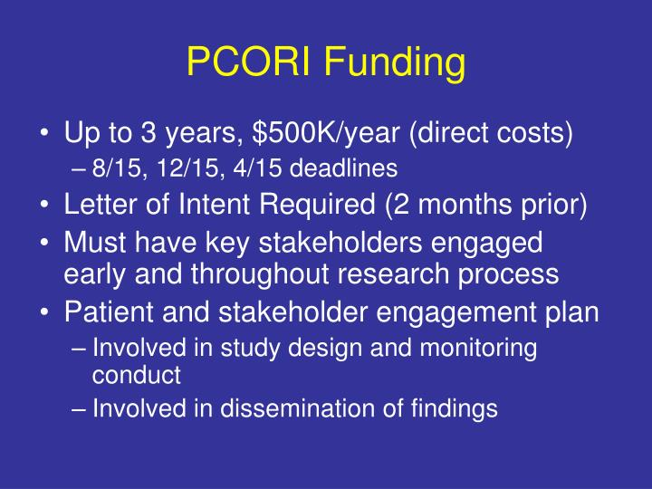 PCORI Funding