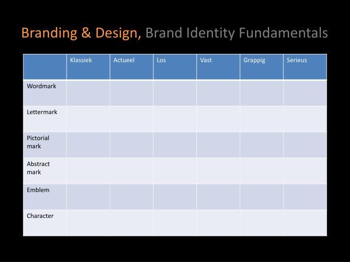 Branding & Design,