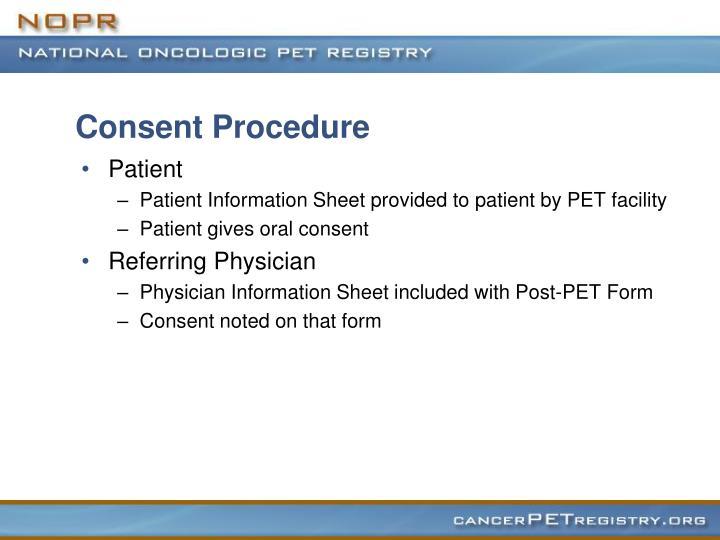 Consent Procedure