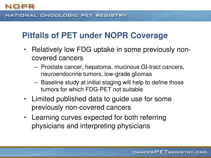 Pitfalls of PET under NOPR Coverage