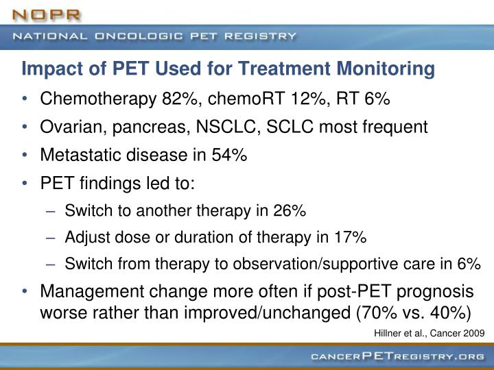 Impact of PET Used for Treatment Monitoring