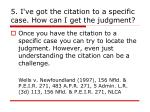 5 i ve got the citation to a specific case how can i get the judgment
