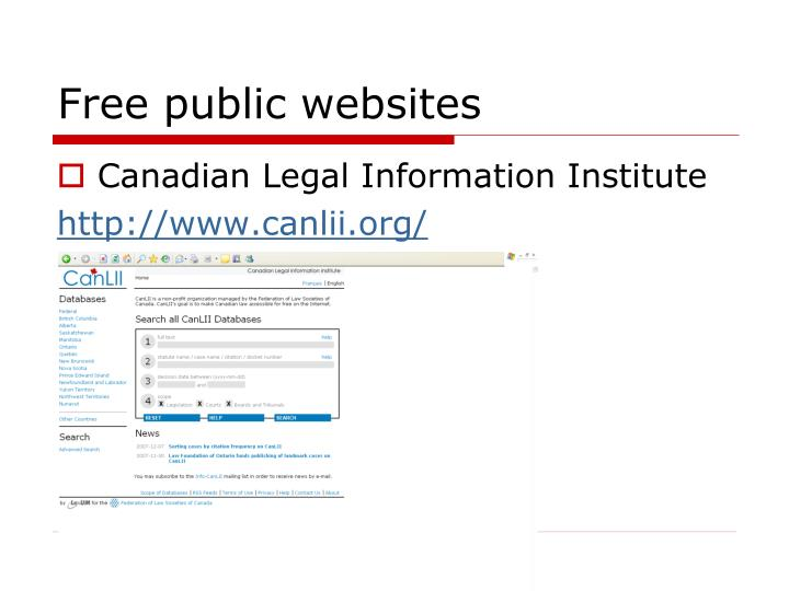 Free public websites