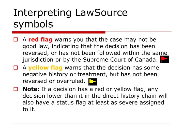 Interpreting LawSource symbols