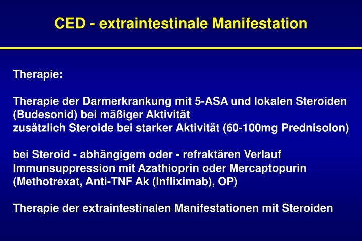 CED - extraintestinale Manifestation