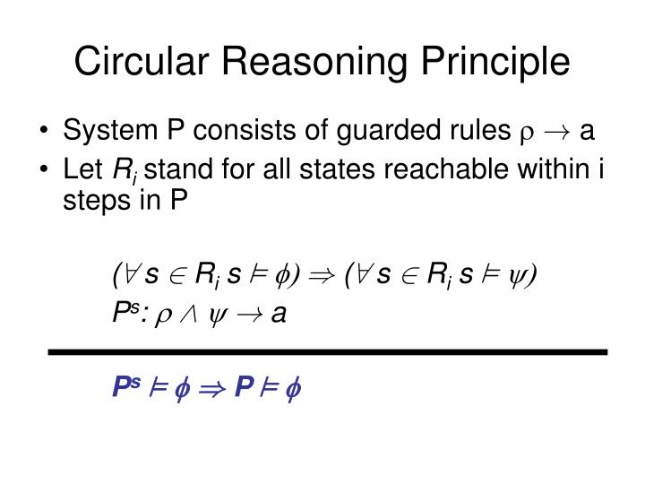 Circular Reasoning Principle