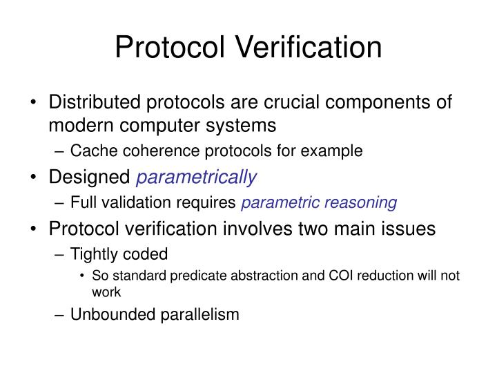 Protocol verification