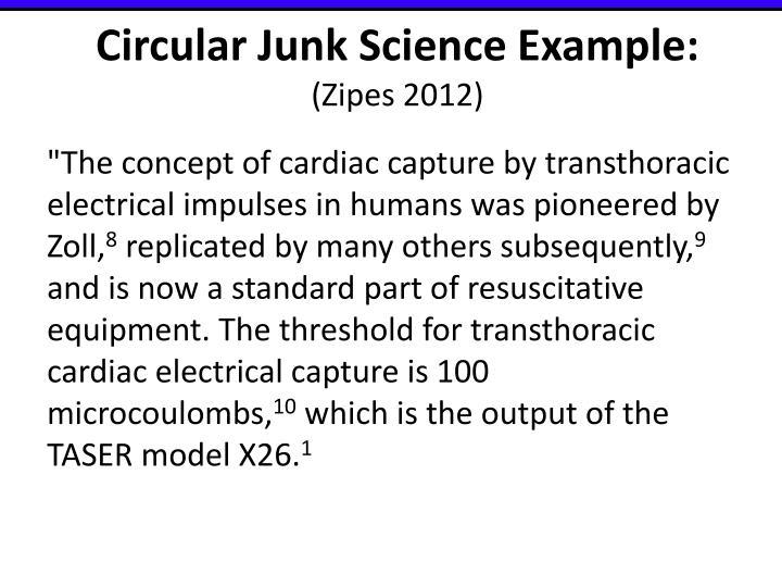 Circular Junk Science Example: