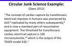 circular junk science example zipes 2012