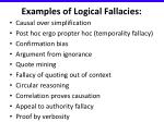 examples of logical fallacies