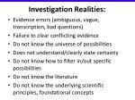 investigation realities1