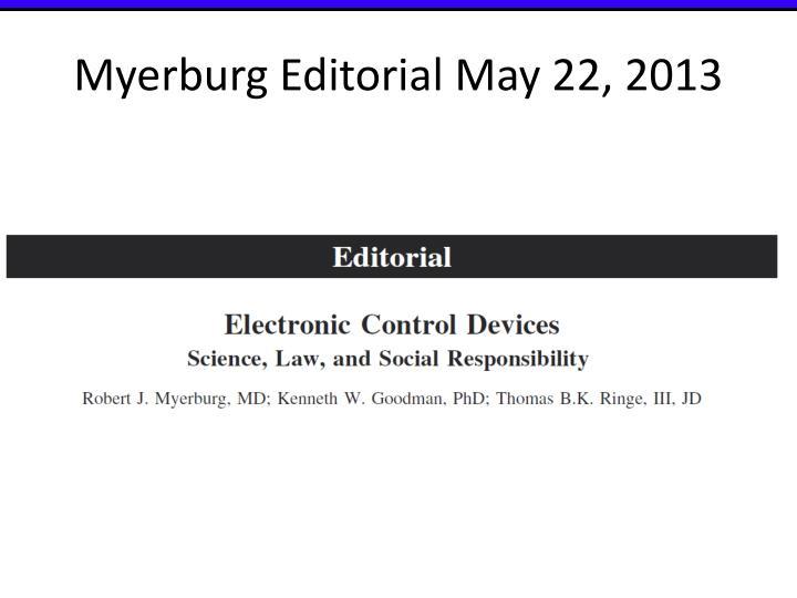 Myerburg Editorial May 22, 2013