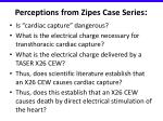 perceptions from zipes case series