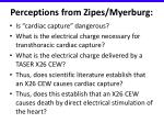 perceptions from zipes myerburg