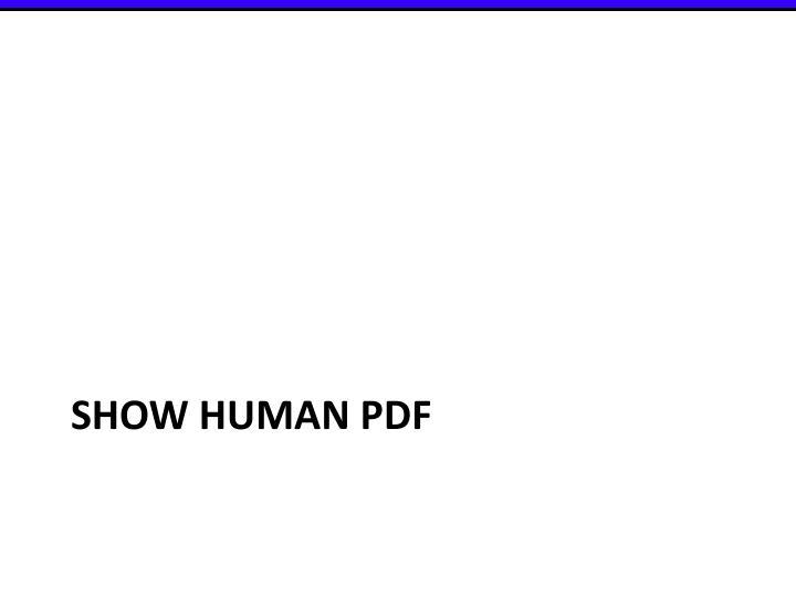Show human pdf
