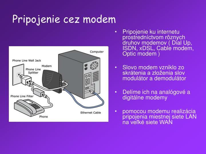 Pripojenie cez modem