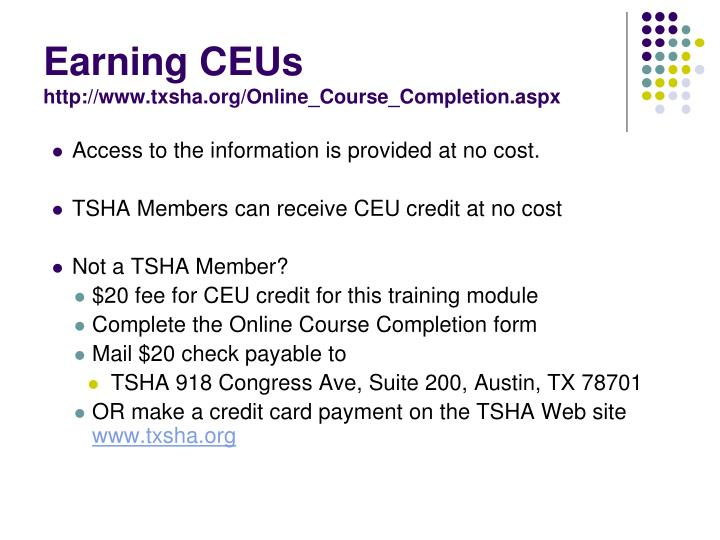 Earning CEUs