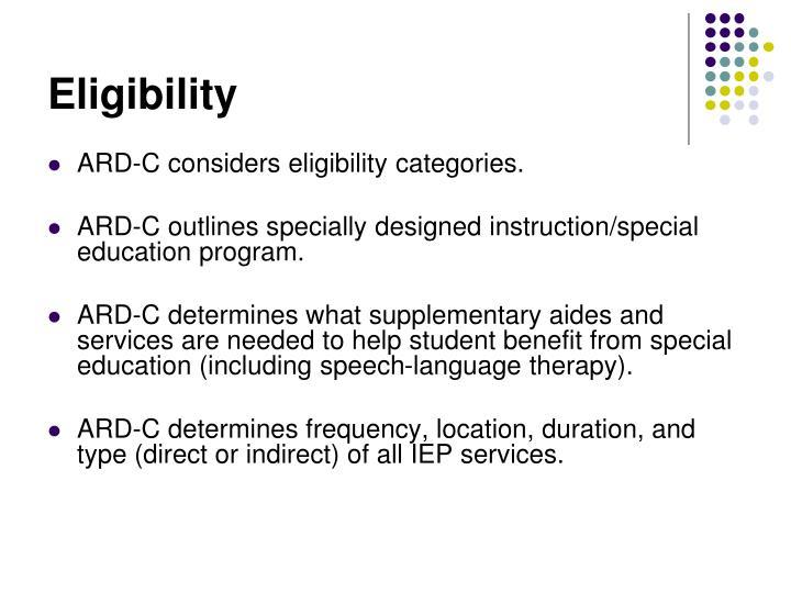 Eligibility
