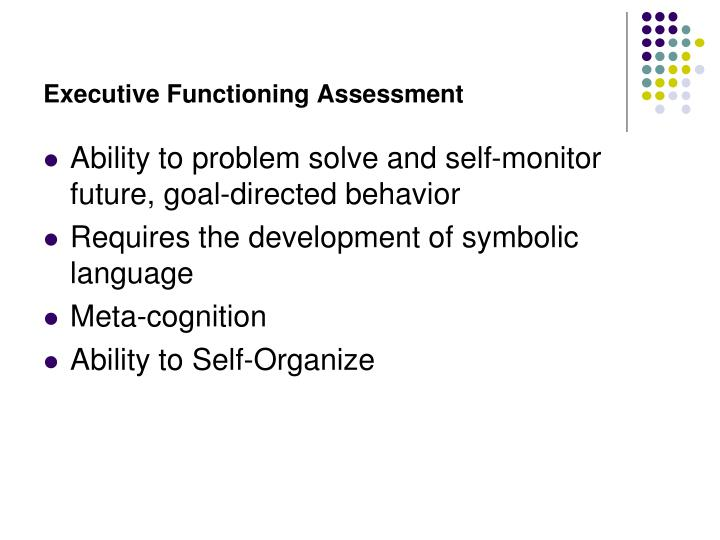 Executive Functioning Assessment