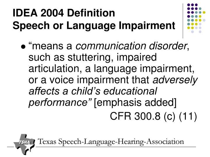 IDEA 2004 Definition