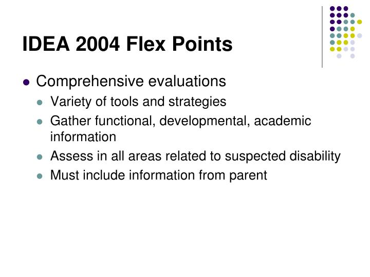IDEA 2004 Flex Points