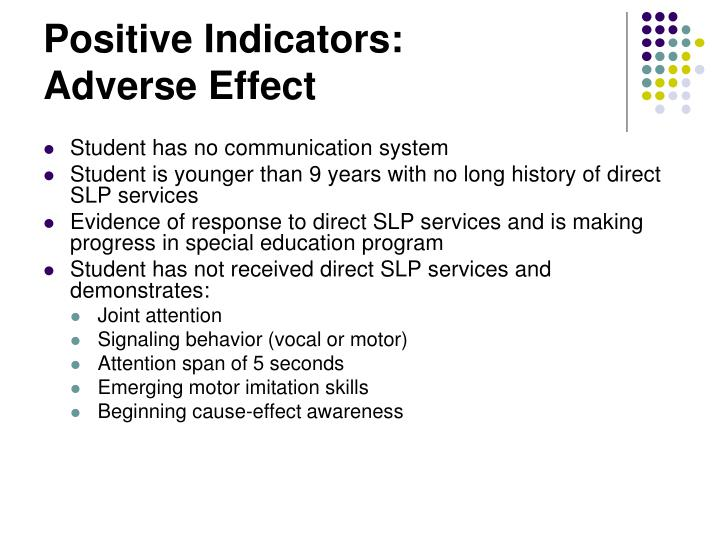 Positive Indicators: