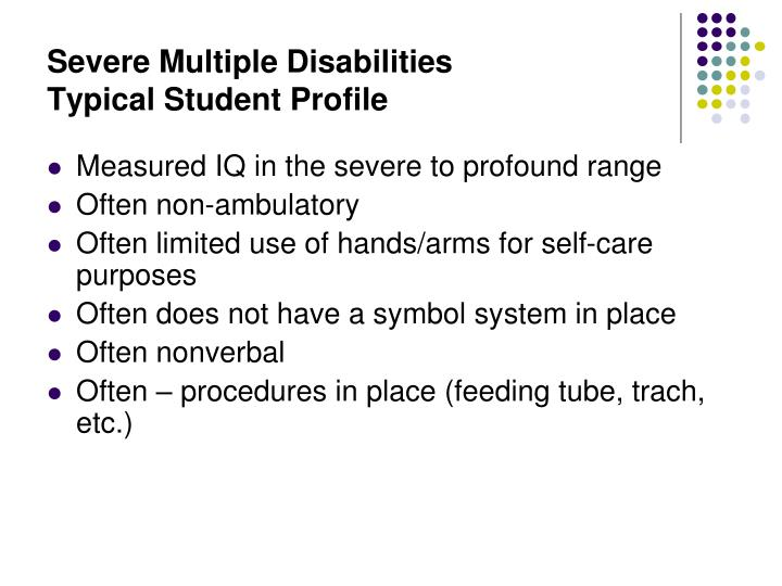 Severe Multiple Disabilities