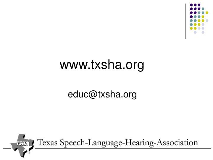 www.txsha.org