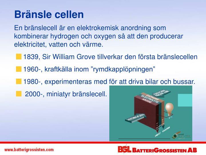Bränsle cellen