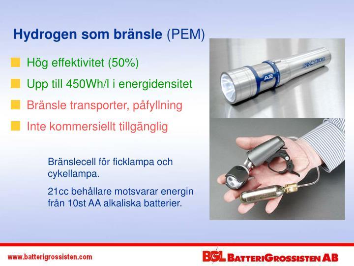 Hydrogen som bränsle